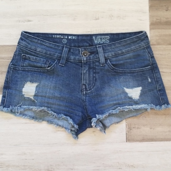 VANS Vintage Mini Denim Shorts